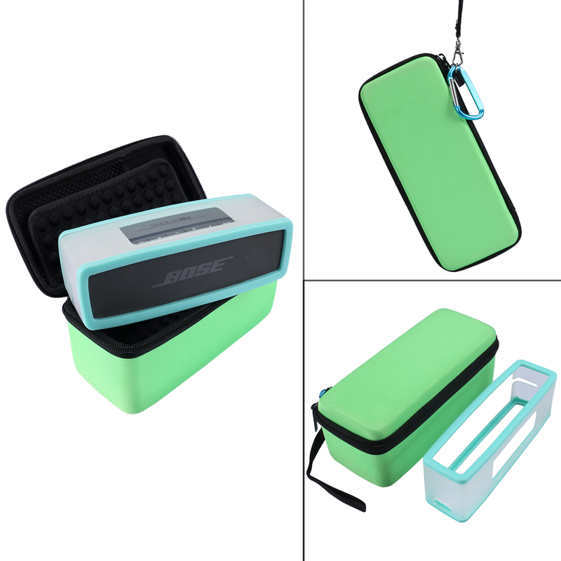 EVA Travel Carry Storage Case Cover Box +Soft Silicone TPU Case Cover For Bose Soundlink Mini/Mini 2 Wireless Bluetooth Speaker