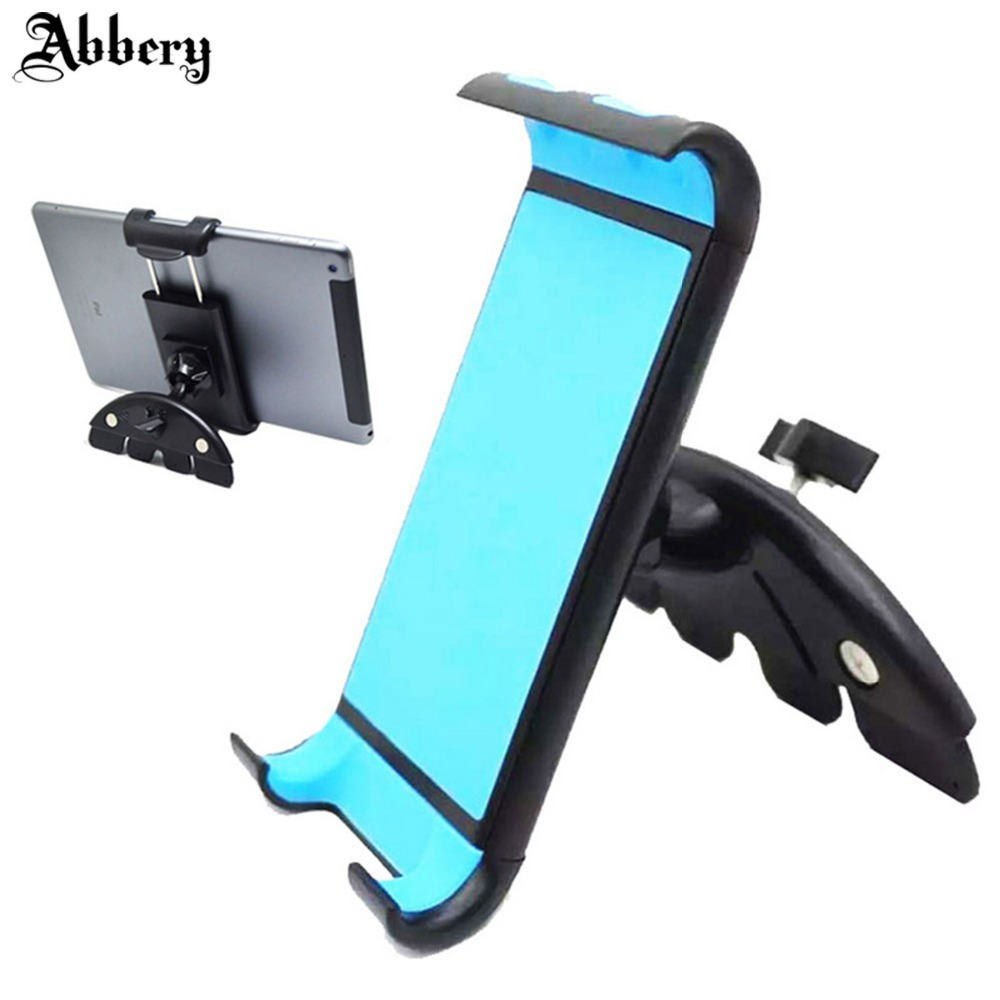 Abbery Araba Evrensel Tablet CD Yuvası Araç Montaj Tablet Telefon Tutucu için iPad 2 3 4 Hava 1 2 Mini 1 2 3 4 iPhoneX 7 6 S Android telefon