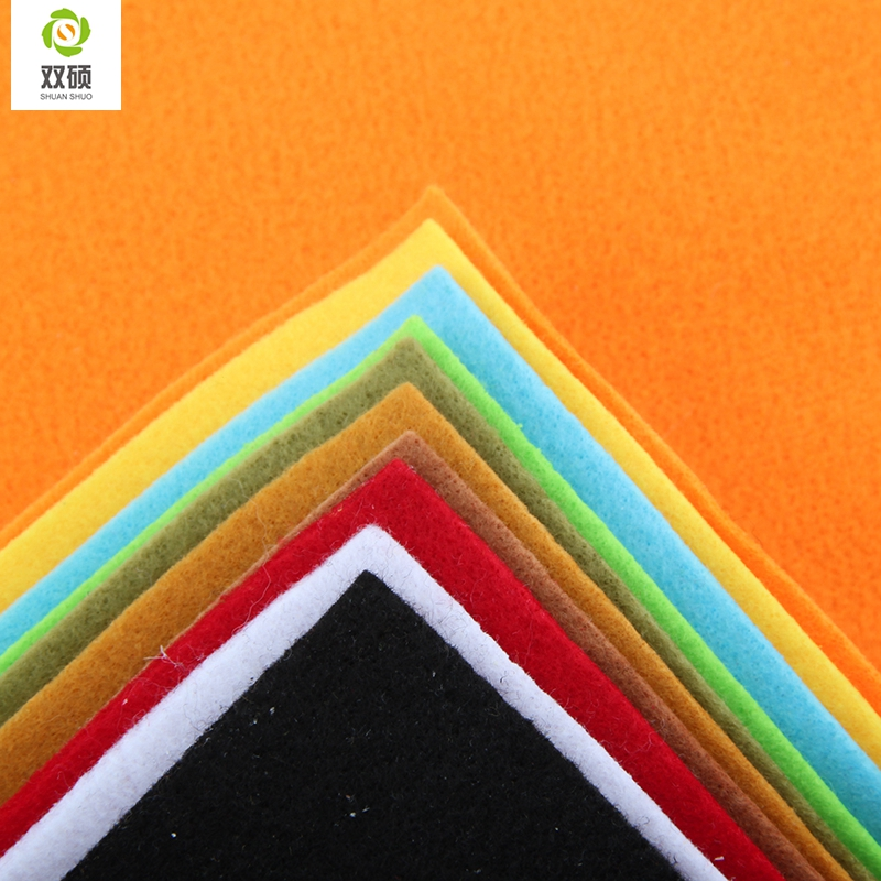 2015 New Arrivals Mix color Soft Polyester Nonwoven Felt Fabric DIY Felt Fabric Pack 2 MM Thick 10PCS/lot 30X30CM RN-10-3