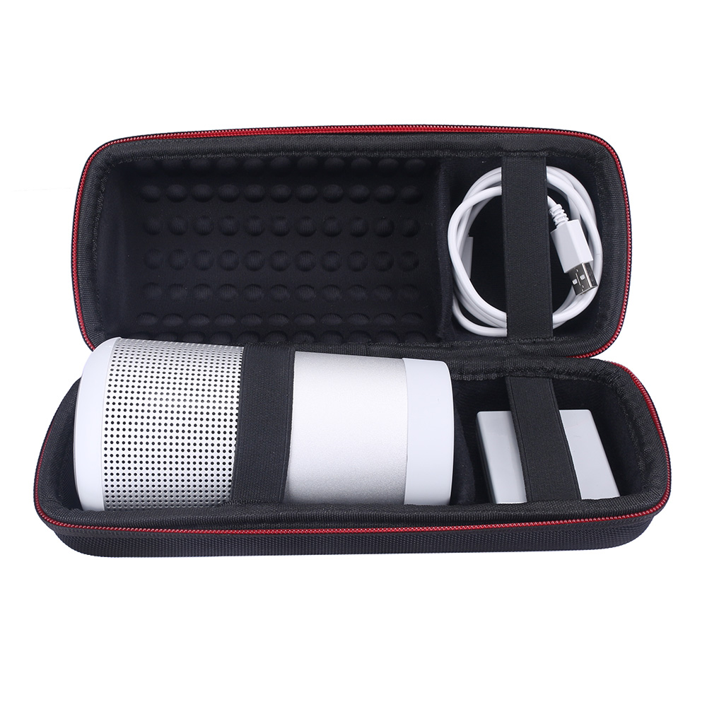 EVA Carry Protective Speaker Box Pouch Cover Bag Case For Bose SoundLink Revolve Bluetooth Speaker-Fits Speaker.Charger.Cables
