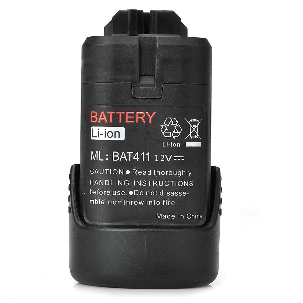 Replace BAT411 Power Tools Battery for BOSCH BAT412A GSR V-Li GWI PS10-2 2607336013 2607336014, Black